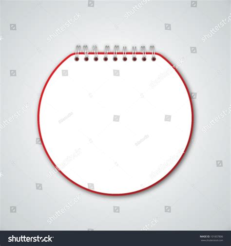 Notebook Circle Circle circle notebook stock vector illustration 101837806