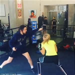 gigi hadid shows fit physique during grueling boxing