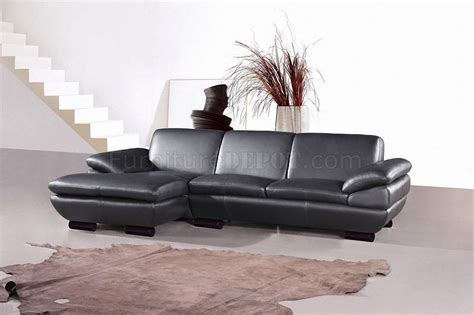 prestige sofa prestige sectional sofa by beverly hills in black full leather