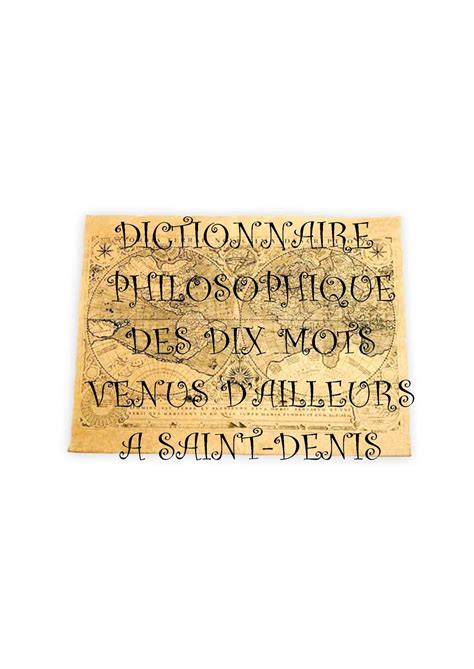 Une En Plus Denis 4027 by Calam 233 O Dictionnaire Philosophique Des Dix Mots
