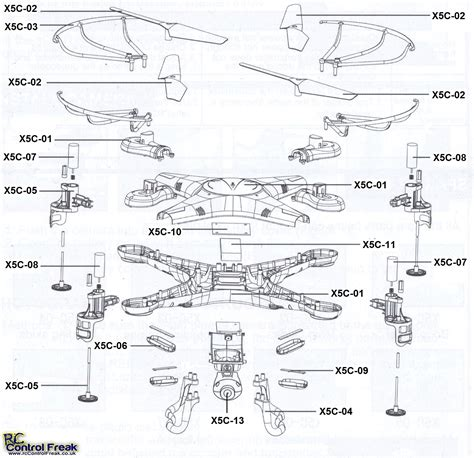 parts diagrams syma x5c spare parts list diagram