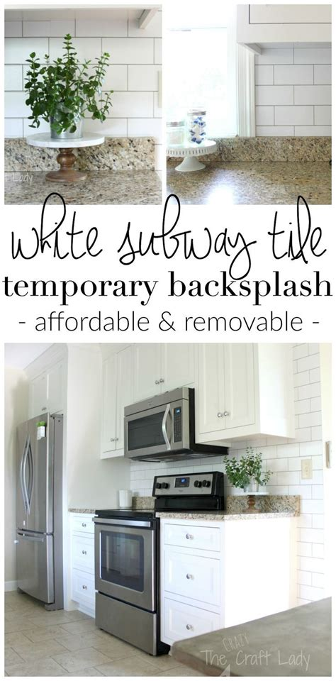 temporary kitchen backsplash 25 best ideas about removable backsplash on