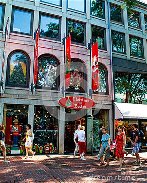 christmas in boston store boston ma editorial