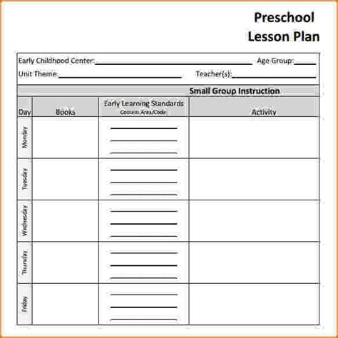 printable lesson plan organizer 3 free printable lesson plan templates bookletemplate org