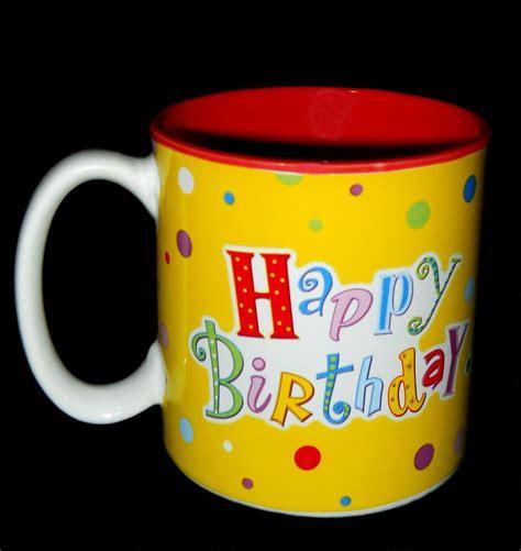 mug design happy birthday coffee mug happy birthday colorful design burton stoneware