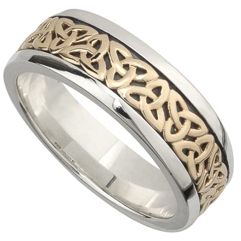 Wedding Bands Gold And Silver by Wedding Band 10k Gold And Sterling Silver Mens
