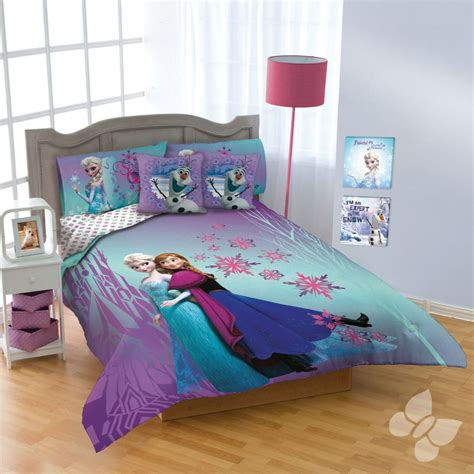disney frozen bedding new girls disney purple blue frozen comforter bedding sheet set twin full queen ebay