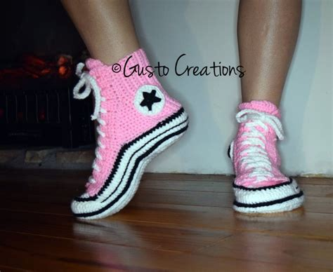 crochet converse slippers pattern free converse slippers crochet pdf pattern high top