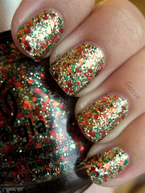 goose s glitter the 12 days of christmas nails day 8