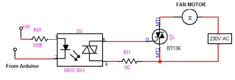 triac pull resistor how to controll a c 230v fan speed with arduino page 2