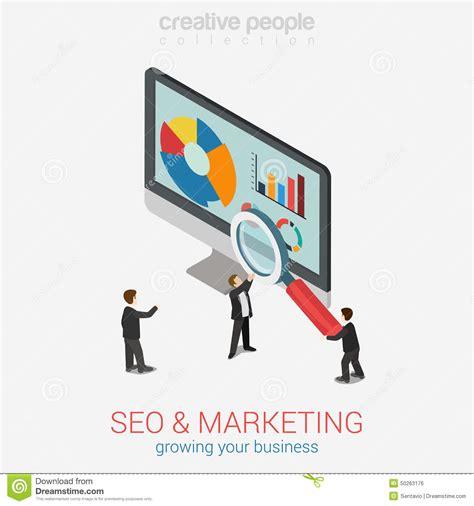 Seo Marketing Company by Analytics Orange Text Business Concept Stock