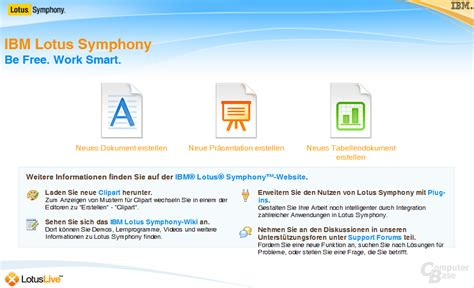 ibm lotus symphony free ibm lotus symphony be free work smart bild