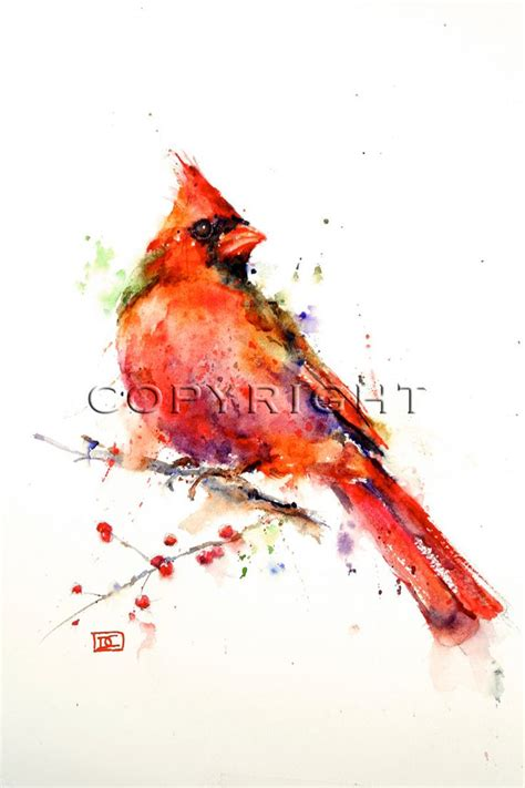 watercolor cardinal tattoo cardinal watercolor bird print cardinal painting by