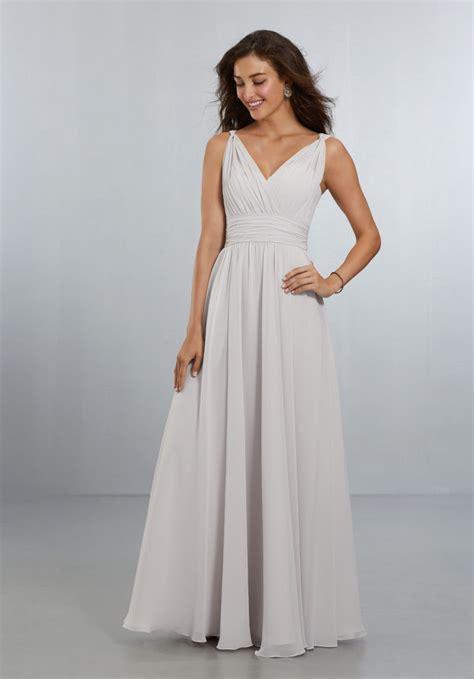 Bridesmaid Dresses Uk Sleeve - chiffon bridesmaids dress with v neckline and v back