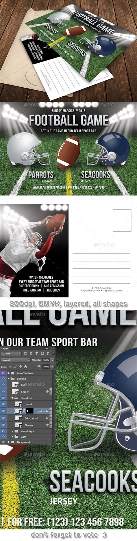Football Card Template Psd by Invitation Templates And Invitations On