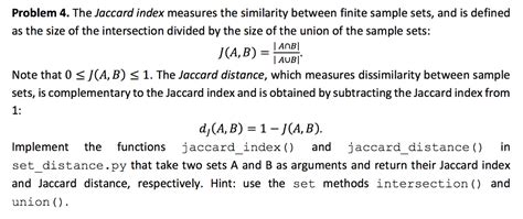 Collaborative Filtering Homework Solutions by Solved Problem 4 The Jaccard Index Measures The Similari