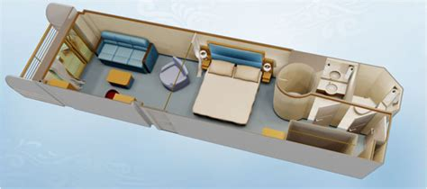 Floor Plan Couch by Disney Cruise Line Staterooms Deluxe Family Oceanview
