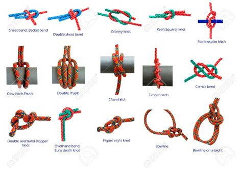 Different Types Of Macrame Knots - 5024671 different knots isolated in white stock photo knot