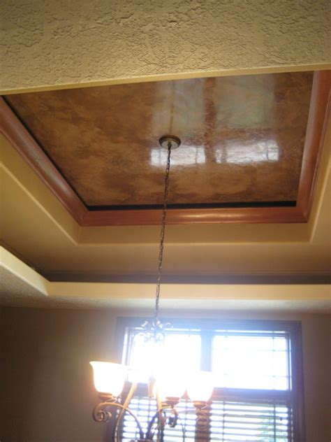 Faux Tray Ceiling by Dining Room Tray Ceiling Italian Venetian Plaster Faux Finishes Traditional Dining