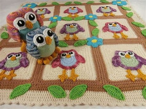 Crochet Owl Blanket Free Pattern by Crochet Owl Projects Lots Of Ideas You Will The Whoot