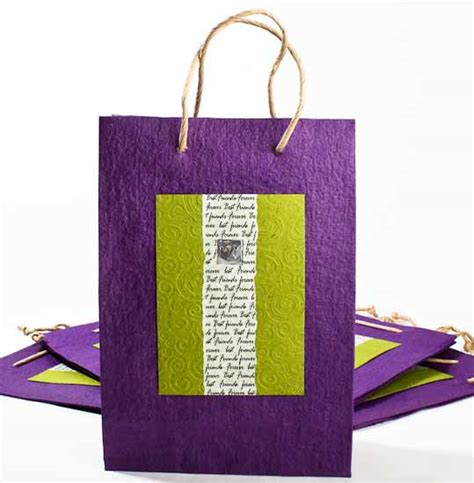 Handmade Paper Gift Bags - best friends handmade paper gift bags set of 10