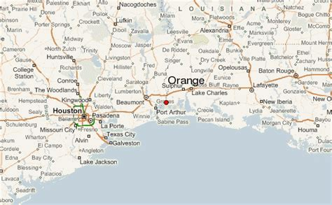 map of orange texas orange texas location guide