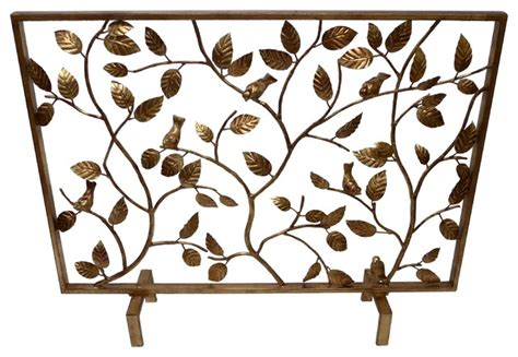 Golden Branch Fireplace Screen by Accents For The Home Bird Branch Screen Antique Gold