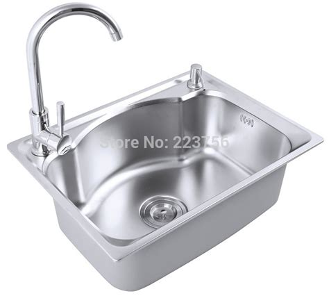 italian custom size single bowl kitchen sink cheap above