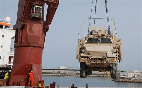 Army Car Shipping Ports by Last Iraq Mrap Loaded For Transport To 1st Cav Museum