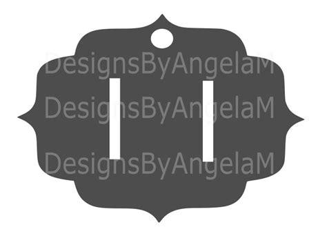 Headband Card Template Svg by Hair Bow Holder Hair Barrette Svg Digital Cutting File