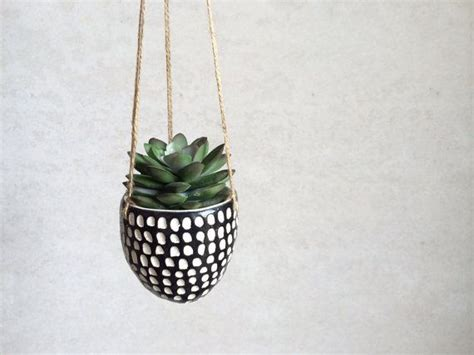 decorative hanging planters succulent hanging planter small planter black and
