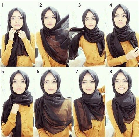 ideas  square hijab tutorial  pinterest