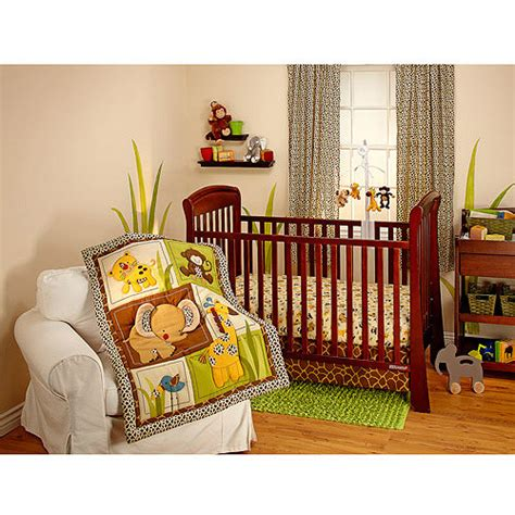Nojo Jungle Crib Bedding Bedding By Nojo Jungle Dreams 3pc Crib Bedding Set Collection Value Bundle Walmart