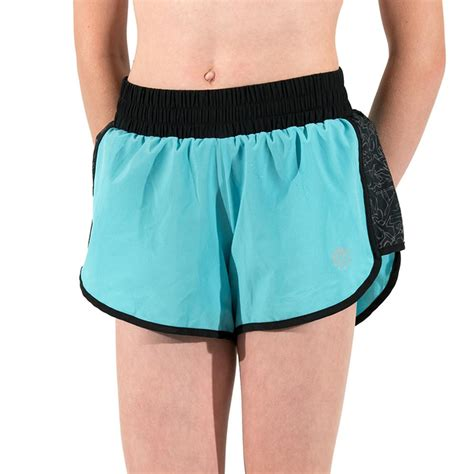 bfit clubfit soft power blue sports shorts running blue black everactiv
