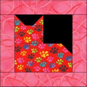 Patchwork Cat Quilt Block Patterns - 378 best images about sewing on triangle