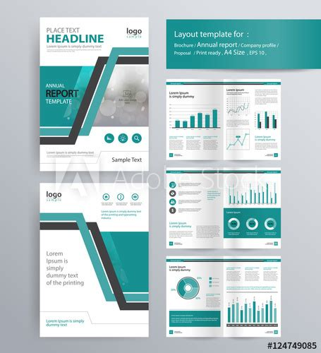 stock layout templates page layout for company profile annual report brochure