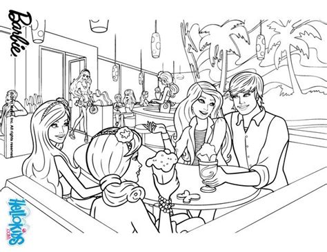 coloring pictures of barbie and ken barbie ken and friends coloring pages hellokids com