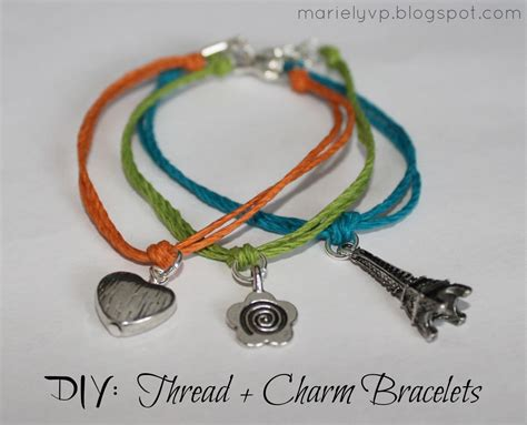 How To Make Handmade Bracelets With Threads - we read diy thread charm bracelets