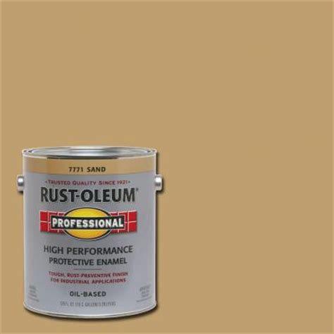 rust oleum professional 1 gal sand gloss protective enamel of 2 7771402 the home depot