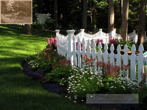 Picket Fence Garden Ideas Picket Fence Styles Landscape Traditional With Fence