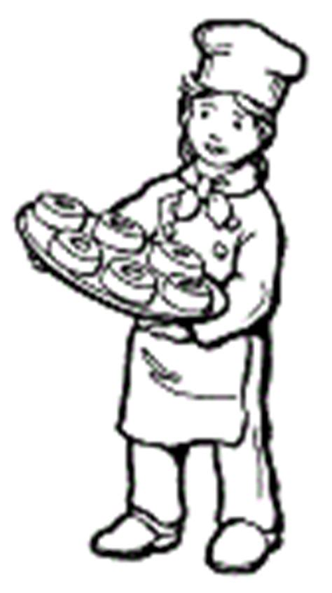 baker coloring pages preschool baker community helper careers preschool activities and
