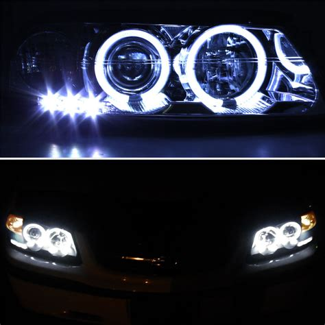 00 04 Chevy Impala Dual Halo Led Projector Headlights Led Projector Lights
