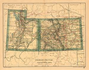 utah colorado map colorado and utah barry ruderman antique maps inc