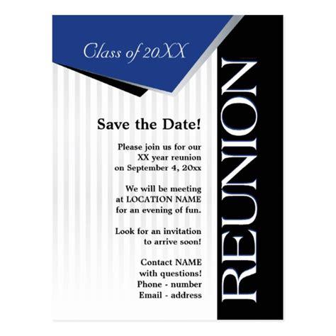 Save The Date Class Reunion Postcard Zazzle Com Reunion Save The Date Templates