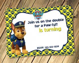 free chase paw patrol birthday invites template dolanpedia invitations ideas