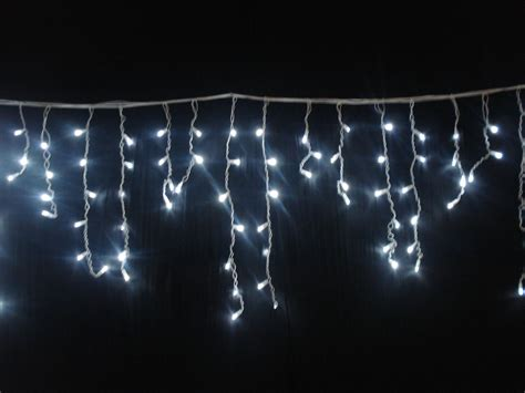 led icicle lights warm white dripping christmas lights