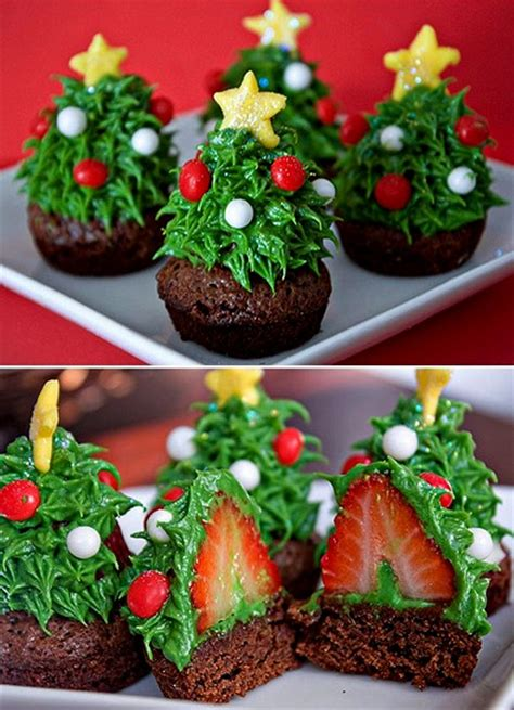 christmas tree strawberry brownies so cute and look