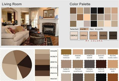 Color Palette Home Decor by Living Room Color Scheme Vanilla Sorrell Brown Rustic
