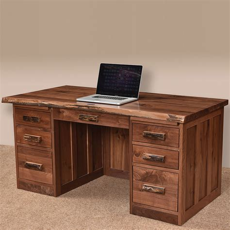 live edge computer desk mission live edge amish desk live edge furniture