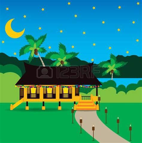 wallpaper raya cute something for hari raya vector of malays s house on sale